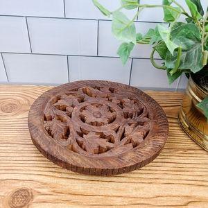 Carved Wooden trivet